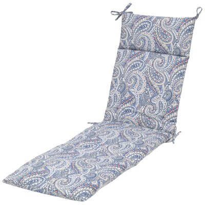 Nessa Paisley Poolside Outdoor Chaise Lounge Cushion