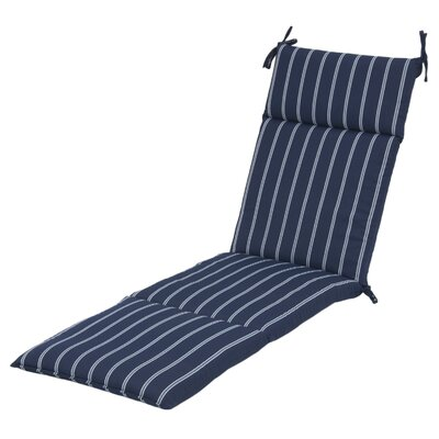 Reversible Stripe Outdoor Chaise Lounge Cushion