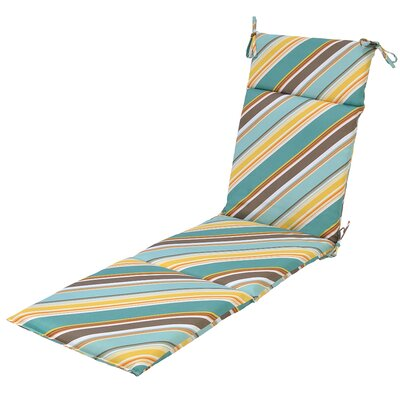 Allegra Stripe Outdoor Chaise Lounge Cushion with Ties