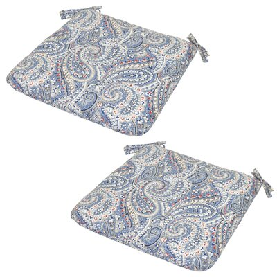 Delroy Paisley Poolside Outdoor Seat Cushion