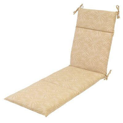 Aramantha Palm Outdoor Chaise Lounge Cushion