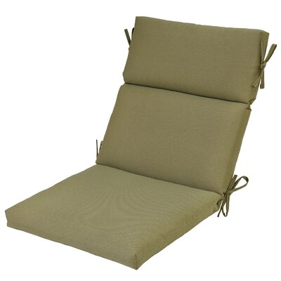 High Back Outdoor Dining Chair Cushion Fabric: Celery
