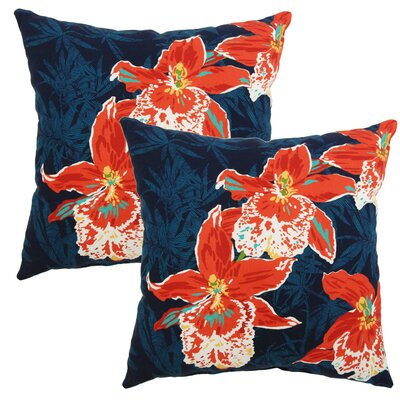 Carrera Orchid Outdoor Throw Pillow