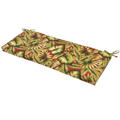 Leaves Outdoor Bench Cushion