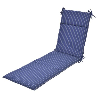 Ticking Stripe Outdoor Chaise Lounge Cushion
