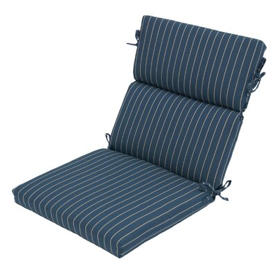 Ticking Stripe Outdoor Dining Chair Cushion