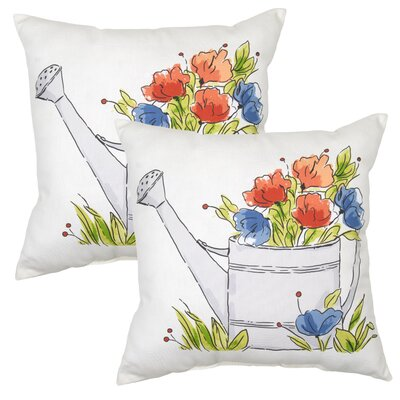 Burnley Watering Can Outdoor Throw Pillow