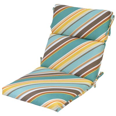 Allegra Reversible Stripe Outdoor Dining Chair Cushion