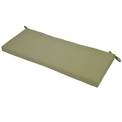 Outdoor Bench Cushion with Ties Fabric: Celery