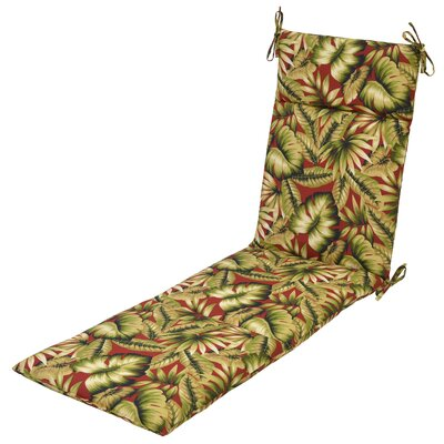 Leaves Outdoor Chaise Lounge Cushion