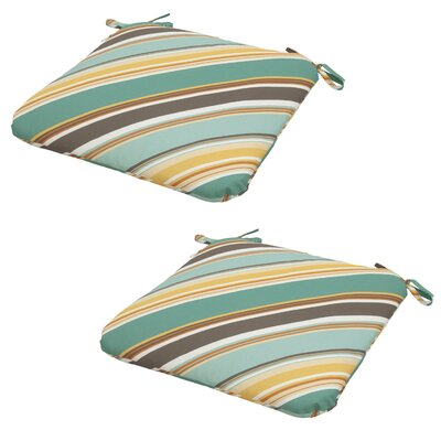 Allegra Stripe Outdoor Dining Seat Cushion