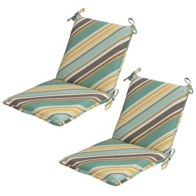 Allegra Stripe Mid-back Outdoor Dining Chair Cushion