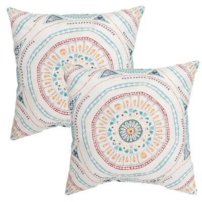 Pelletier Medallion Outdoor Throw Pillow