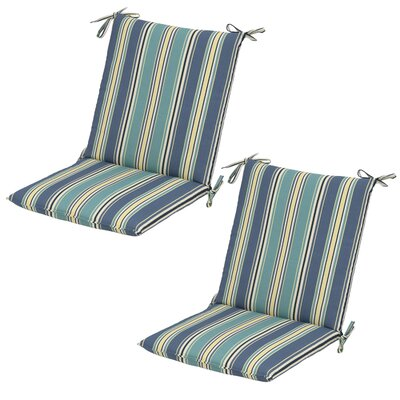 Aranmore Striped Mid-back Outdoor Dining Chair Cushion