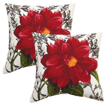Home Dahlia Outdoor Throw Pillow