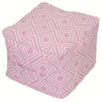 Image of Bearse Pouf Self Welt Ottoman Fabric: Aubrey Geo