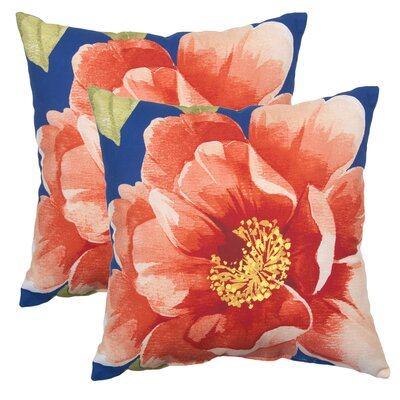 Bellerophon Flower Outdoor Throw Pillow (Set of 2)