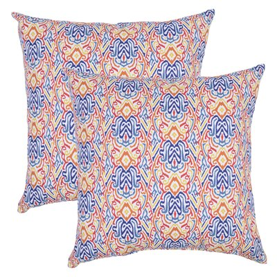 Ransome Outdoor Lumbar Pillow (Set of 2) Color: Blue/Orange