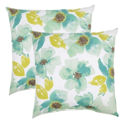 Sibilla Floral Outdoor Throw Pillow (Set of 2)