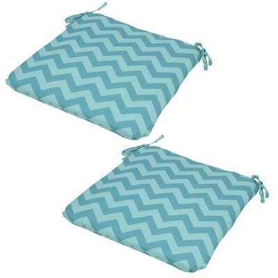Chevron Seat Pad Outdoor Chair Cushion (Set of 2)