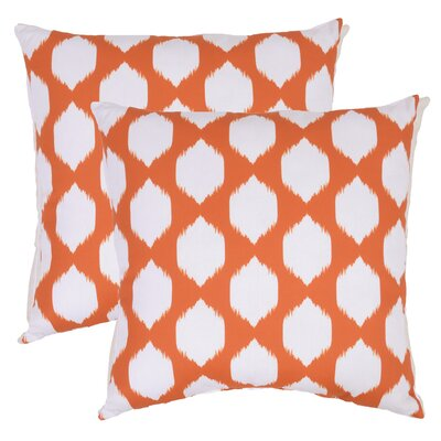 Bellis Ogee Outdoor Throw Pillow (Set of 2) Color: Orange