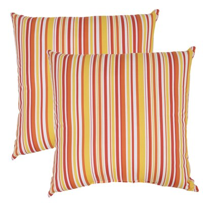Arcel Stripe Outdoor Throw Pillow (Set of 2)