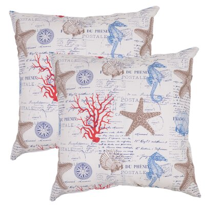 Patrina Ocean Engineerd Outdoor Throw Pillow (Set of 2)