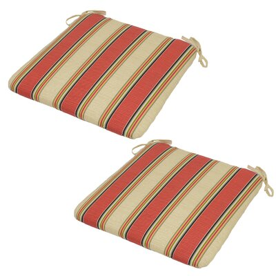 Sanibel Stripe Seat Pad Outdoor Chair Cushion (Set of 2)