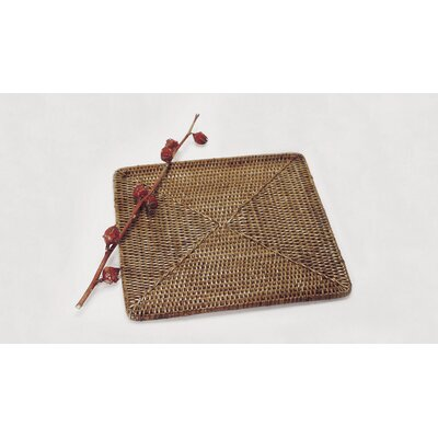 Rattan Square Placemat Size: 15 x 15