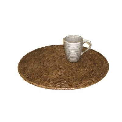 Rattan Round Placemat Size: 16 Liameter