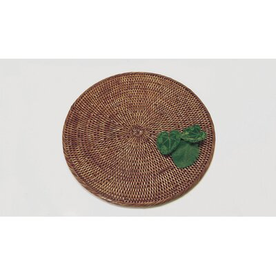 Rattan Round Placemat Size: 14 Liameter