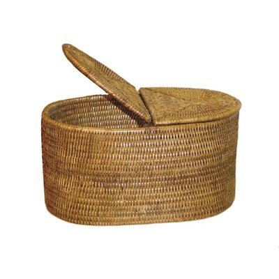 Rattan Tissue Box Cover Finish: Brown
