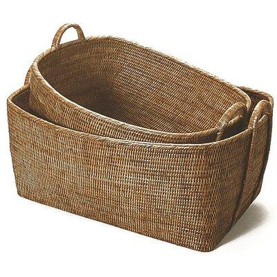 Rattan Basket with Hoop Handles