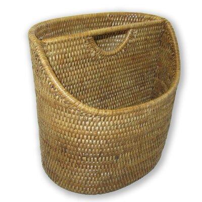 Rattan Cutaway Oval Letter Basket Size: 9 x 7 x 9