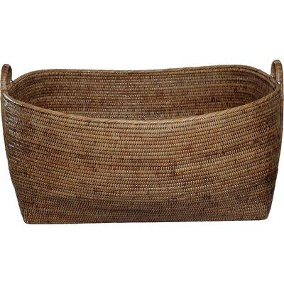 Rattan Basket with Hoop Handles Size: 31 x 25 x 14