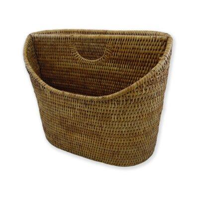 Rattan Cutaway Oval Letter Basket Size: 14 x 8 x 12