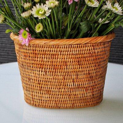 Rattan Oval Basket Size: 9 x 8 x 4
