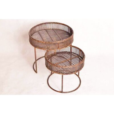 Youssoufia Rattan 2 Piece Nesting Tables