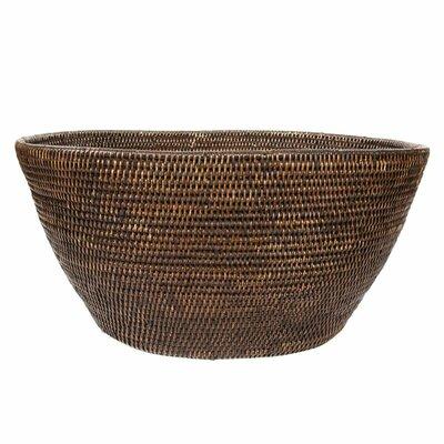 """Rattan Laundry Basket Color: Espresso, Size: 12"""" x 25"""" x 17"""""""
