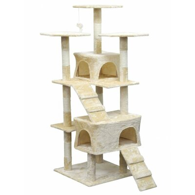 Light Weight Economical Cat Tree Color: Beige