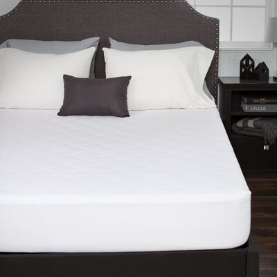 Cotton Fitted Mattress Pad Size: King