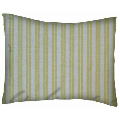 Dual Stripe Cotton Percale Crib/Toddler Pillow Case Color: Yellow
