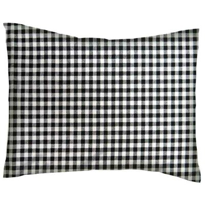 Gingham Check Cotton Percale Crib/Toddler Pillow Case Color: Black