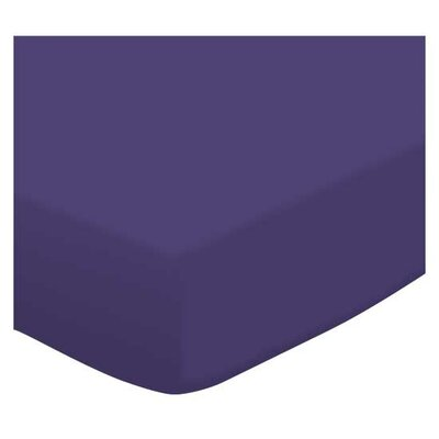 Jersey Knit Crib Sheet Color: Purple