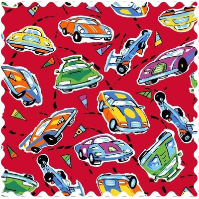 Race Cars Fabric By The Yard