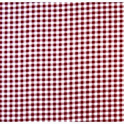 Gingham Check Pack N Play Fitted Sheet Color: Burgundy