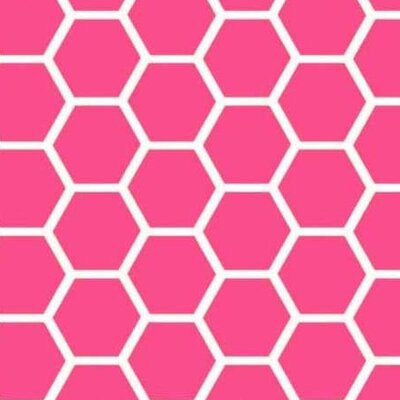 Honeycomb Fabric By The Yard Color: Hot Pink