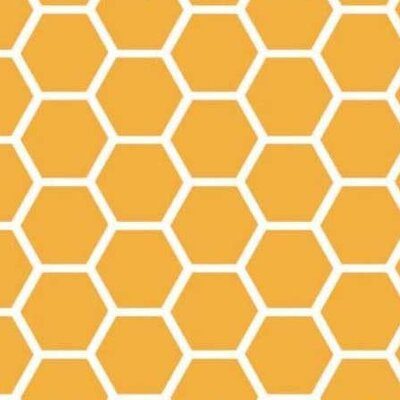 Honeycomb Fabric By The Yard Color: Mustard Yellow