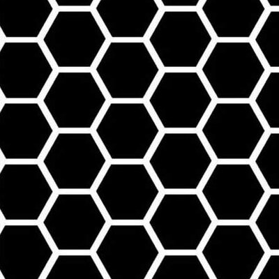 Honeycomb Fabric By The Yard Color: Black
