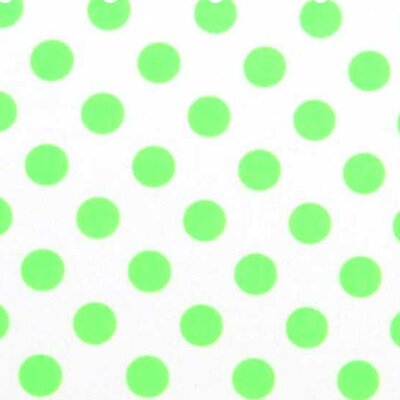 Neon Polka Dots Fabric By The Yard Color: Green